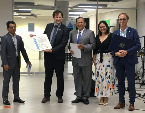 Uitreiking award stad Guayaquil