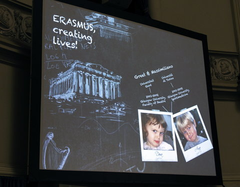 Academische zitting 'Erasmus, changing lives, opening minds, for 25 years'