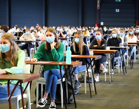 On campus examens in Flanders Expo