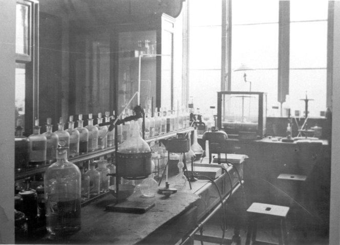 Labo in het Institut de Chimie Industrielle
