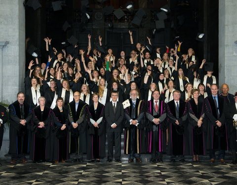 Proclamatie 2011/2012 Master of Science GVO, MB en VV