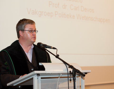 Laudatio door prof. Carl Devos