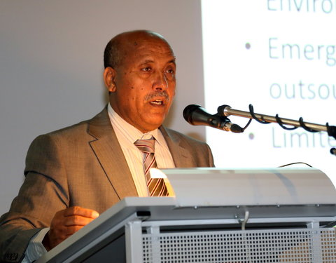 Lezing door prof. Mitiku Haile (Mekelle University, Ambassador from Ethiopia to Unesco)