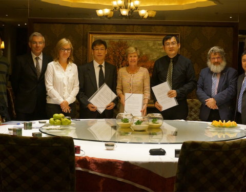 Ondertekening MoU met Xinjiang Institute of Ecology and Geography en het Turpan Bureau of Cultural Heritage