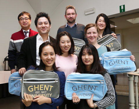 Koreaanse staf (Ghent University Global Campus) bezoekt UGent