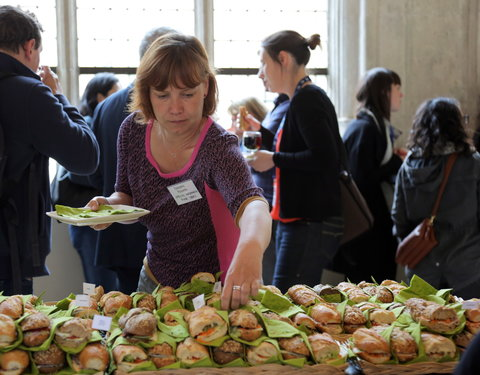 A sandwich lunch to get the minds working and the networking started