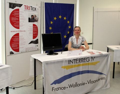 Stand van TRITex (Transfer of Research and Innovations in Textiles)