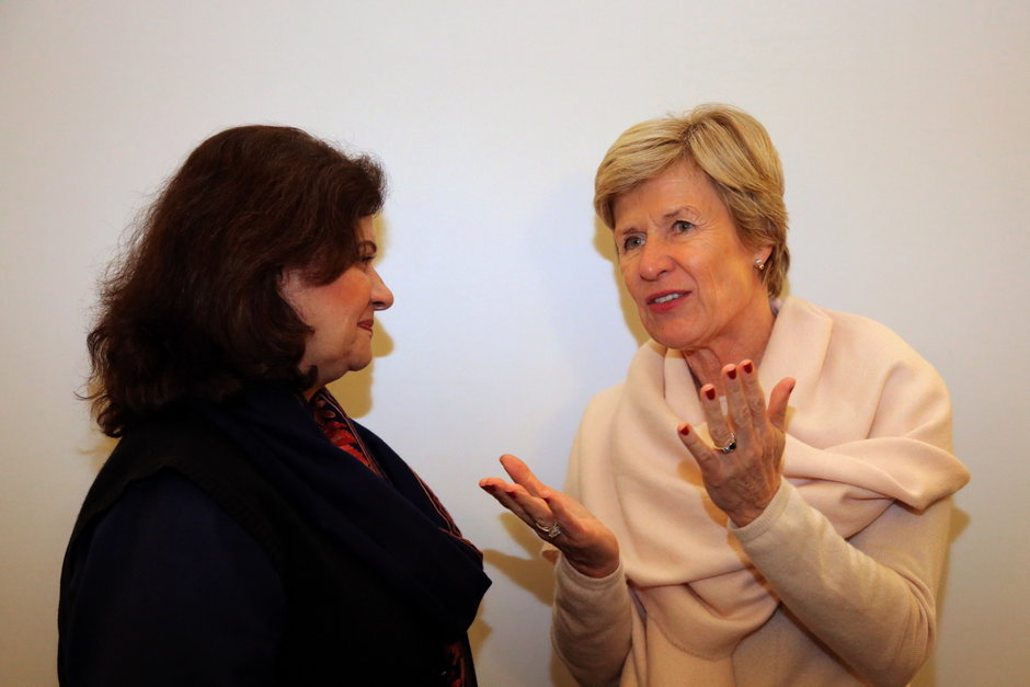 Vlnr. Zahra Wadood Fatemi (Member of National Assembly, Pakistan) en prof. Anne De Paepe (rector UGent)