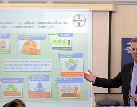 Lezing door Adrian Percy (Head of Innovation Crop Science, Bayer): 'Why innovation is key in sustainable agriculture'