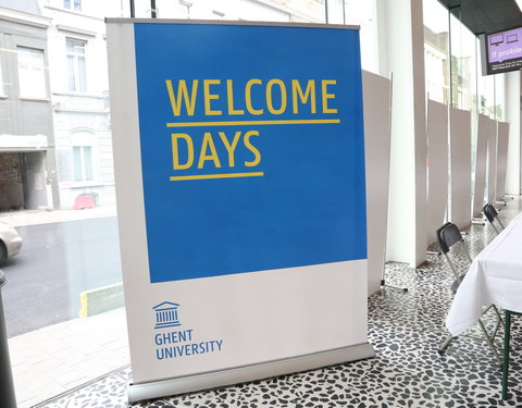 Ontvangst van internationale studenten tijdens Welcome Days