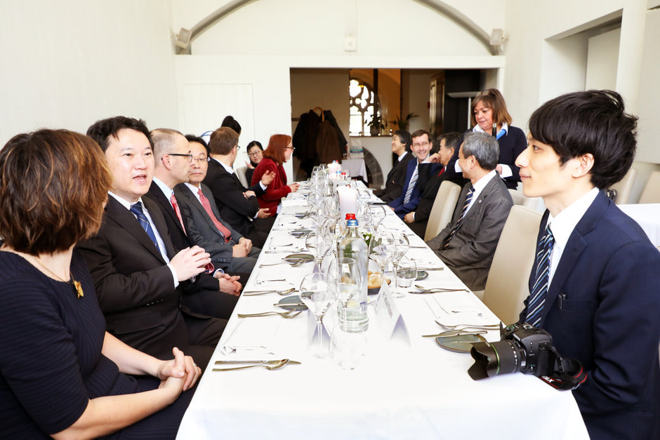 Lunch meeting met delegatie van Kanazawa University (Japan)
